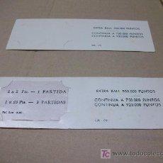 Coleccionismo: PINBALLS : REPUESTOS USADOS - TARJETAS PUNTUACIÓN PETACO. Lote 16310428