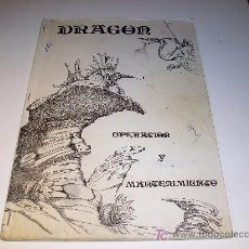 Coleccionismo: MAQUINAS RECREATIVAS: PINBALL / MANUAL DE OPERACION Y MANTENIMIENTO: DRAGOR (PLAYMATIC). Lote 26606129