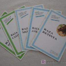 Coleccionismo: LOTE DE 5 SEPARATAS - RAZAS AUTOCTONAS ESPAÑOLAS - ESPECIE BOVINA - ESPECIE OVINA. Lote 25981135
