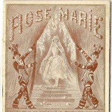 Coleccionismo: PROGRAMA DE LA OBRA MUSICAL ROSE MARIE. THEATRE MOGADOR. PARÍS. 1925. Lote 27376189