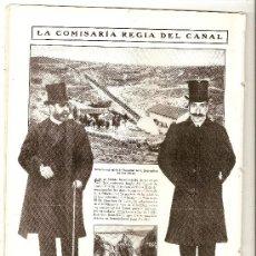 Coleccionismo: HOJA REPORTAJE AÑO 1908 SALTO DE NAVALLAR HIDRAULICA SANTILLANA PRESA DEL VILLAR DEL CANAL. Lote 18723933