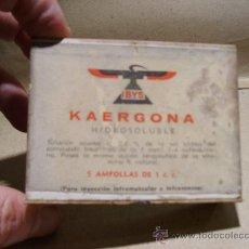 Coleccionismo: MEDICAMENTO KAERGONA. FARMACIA.. Lote 18737692