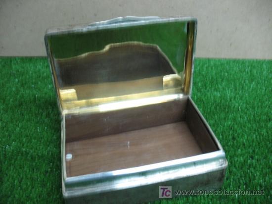 Coleccionismo: caja antgigua de alpaca - Foto 2 - 18812656