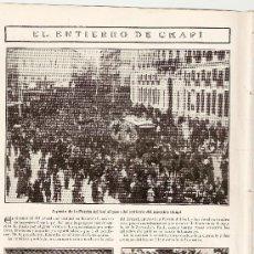 Coleccionismo: HOJA REPORTAJE.AÑO 1909.MUERTE DE RUPERTO CHAPI.VILLENA.ALICANTE.MADRID.MUSICA.ZARZUELA.TEATRO APOLO. Lote 18848831