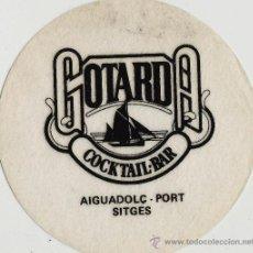 Coleccionismo: POSAVASOS.- AIGUADOLÇ-PORT.- SITGES.- GOTARDA.- COCKTAIL BAR. Lote 195435977