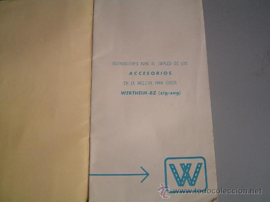 Manual De Instrucciones Maquina De Coser Wertheim Modelo