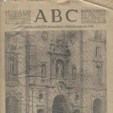 Coleccionismo: RECORTE DE PRENSA. ABC. GUERRA CIVIL. 05-04-1939.IGLESIA DE SAN JOSE. MADRID. PORTADA. . Lote 19691053