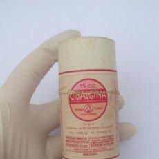 Antiguo medicamento.Solo el envase. No hay el medicamento en el interior. Cibalgina.Farmacia
