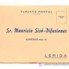 Coleccionismo: TARJETA POSTAL. MAURICIO SISÓ-DIFUSIONES. LÉRIDA. . Lote 20450234