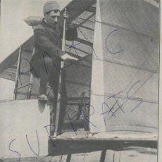 Coleccionismo: RECORTE DE PRENSA.AÑO 1908.AVIACION.ANTIGUA.RECORD.LEON DELAGRANGE.ISSY-LES-MOULINEAUX.FRANCIA.FOTOS. Lote 20495321