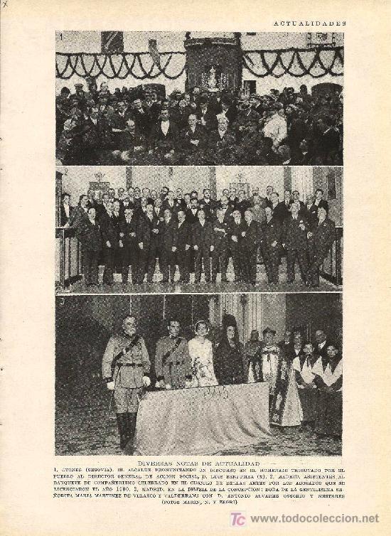 * OTONES, SEGOVIA * MADRID * HOMENAJE A D. LUÍS BENJUMEA- BANQUETE- BODA - 1928 (Coleccionismo - Laminas, Programas y Otros Documentos)