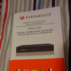 Coleccionismo: MANUAL DE USUARIO DE TDT 109 DE SHINELCO. 104 PÁGINAS. EN 5 IDIOMAS.. Lote 20822427