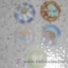 Coleccionismo: LOTE DE 5 TAZOS PLASTICOS AÑO 2001 OBSEQUIO MATUTANO . Lote 20840182
