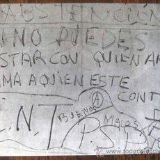 Coleccionismo: FOTO EPOCA TRANSICCION ESPAÑOLA. FIN DE LOS 70. C.N.T. ANARQUIA.ARCHIVO JUVENTUD. ENVIO GRATIS¡¡¡. Lote 21069397