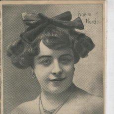 Coleccionismo: RECORTE DE PRENSA. AÑO 1909. PORTADA. FOTO DE LUISA PORTEÑA.COUPLETISTA. . Lote 21185760