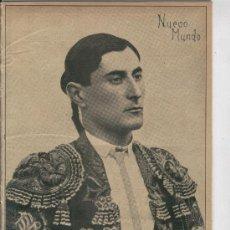 Coleccionismo: RECORTE DE PRENSA. AÑO 1909. PORTADA. FOTO . TORERO. MANUEL DIONISIO FERNANDEZ. . Lote 21186016