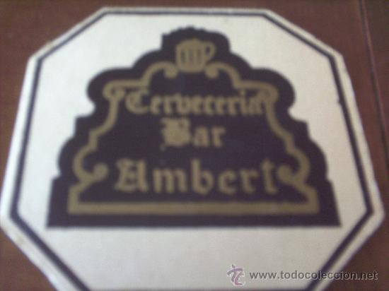 POSAVASO CERVECERIA-BAR AMBERT (Coleccionismo - Varios)