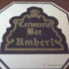 Coleccionismo: POSAVASO CERVECERIA-BAR AMBERT. Lote 21510408