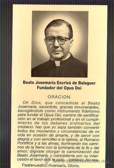 Especie De Tarjeta Oración Beato Jose Maria Comprar Documentos Antiguos En Todocoleccion 22196565
