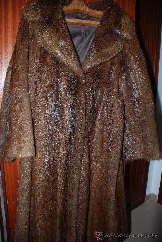 Abrigo piel de nutria