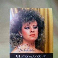 Coleccionismo: TARJETA PUBLICITARIA, AUTOGRAFIADA, FIRMA, EL HUMOR REDONDO DE TETE DE LINARES, 1988. Lote 22926496