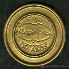 Coleccionismo: PUBLICIDAD EN METAL DE LA MARCA ** HÄAGEN-DAZS ** AÑO 1971 (HELADO FRIGO, CAMY). Lote 23084261