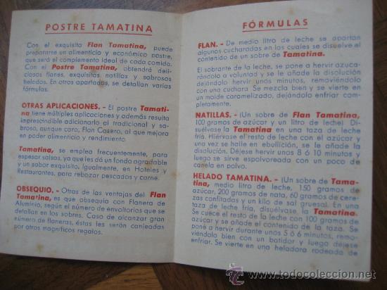 Coleccionismo: Flan Tamatina. Industria Rieras-Marsa. S.A. - Foto 3 - 23569043