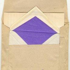 Coleccionismo: LOTE CURIOSO DE PAPEL + SOBRES PARA ESCRIBIR CARTAS. Lote 35559482