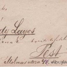 Coleccionismo: ANTIGUO SOBRE - PEST - BUDAPEST - ERSEKUJVAR, SLOVAKIA - 1871. Lote 195245742