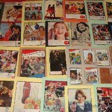 Coleccionismo: LOTE DE 35 ANUNCIOS PUBLICITARIOS DE COCA COLA - PEPSI - KAS. AÑOS 50-90. . Lote 24747272