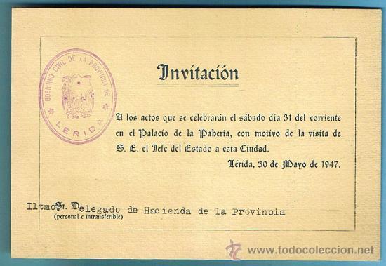 Almuerzo Ofrecido A Don Francisco Franco Bahamonde Palacio De La Paheria Lerida Mayo De 1947