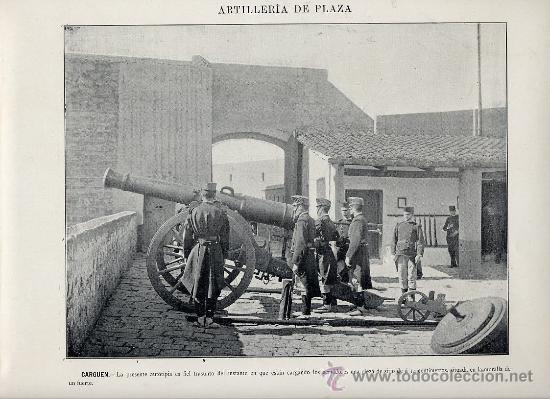MILITARES 1896 ARTILLERIA DE PLAZA LOTE 19 LAMINAS A 6 EUROS UNIDAD (Coleccionismo - Laminas, Programas y Otros Documentos)