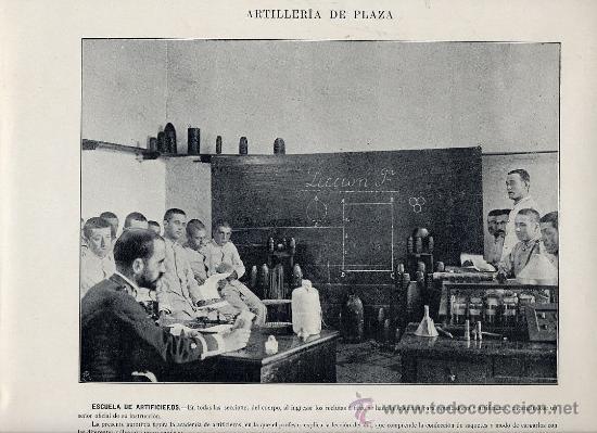 Coleccionismo: MILITARES 1896 ARTILLERIA DE PLAZA LOTE 19 LAMINAS A 6 EUROS UNIDAD - Foto 2 - 26389076