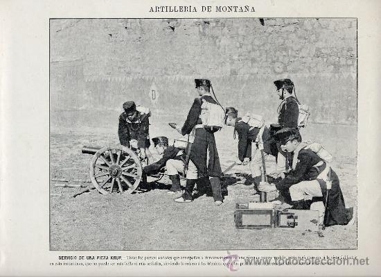Coleccionismo: MILITARES 1896 ARTILLERIA DE PLAZA LOTE 19 LAMINAS A 6 EUROS UNIDAD - Foto 3 - 26389076