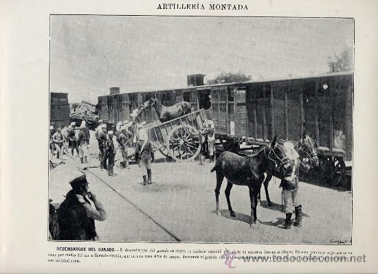 Coleccionismo: MILITARES 1896 ARTILLERIA MONTADA LOTE 19 LAMINAS A 5 EUROS UNIDAD - Foto 2 - 26389075