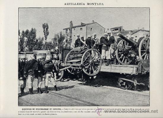 Coleccionismo: MILITARES 1896 ARTILLERIA MONTADA LOTE 19 LAMINAS A 5 EUROS UNIDAD - Foto 3 - 26389075