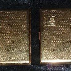 Coleccionismo: PAREJA DE PITILLERAS EN METAL GRABADO. CON SELLO RELIGIOSO DE LA VIRGEN. ANTIGUAS.. Lote 57686450
