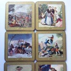 Coleccionismo: ANTIGUOS POSAVASOS CON IMAGENES DE CUADROS DE GOYA. Lote 26624580