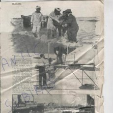 Coleccionismo: RECORTE DE PRENSA. AÑO 1908 ?. AVIACION. ACCIDENTE. DEAUVILLE. ROSANE. . Lote 25091759