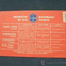 Coleccionismo: PRODUCTOS NACIONALES DE ALTA CALIDAD - BIOHORM - INSTITUTO FARMACOLOGICO EXPERIMENTAL - . Lote 25121649