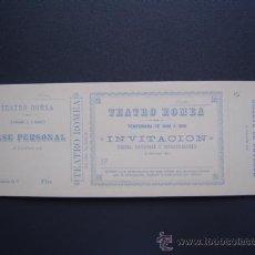 Coleccionismo: TEATRO ROMEA - PASE / ABONO / ENTRADA / INVITACION - TEMPORADA 1888 A 1889 - SIN USO. Lote 26599322