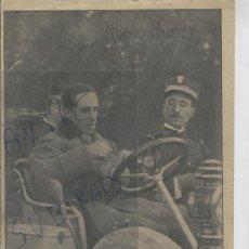 Coleccionismo: RECORTE DE PRENSA. AÑO 1908. EL REY EN AUTOMOVIL. COCHES. . Lote 25131967