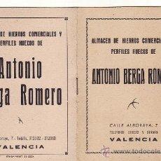 Coleccionismo: == K12 - ALMACEN DE HIERROS COMERCIALES Y PERFILES HUECOS DE ANTONIO BERGA ROMERO. Lote 25376906