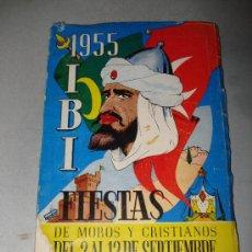 Coleccionismo: LIBRO DE FIESTAS IBI DEL AÑO 1955 .. Lote 25396119