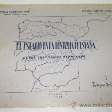 Coleccionismo: MAPAS HISTÓRICOS ESCOLARES,EL ESPACIO EN LA HISTORIA DE ESPAÑA,AÑO 1949 I. Lote 25510665