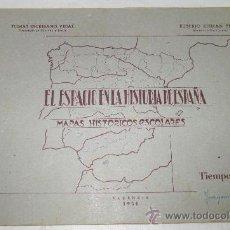 Coleccionismo: MAPAS HISTÓRICOS ESCOLARES,EL ESPACIO EN LA HISTORIA DE ESPAÑA,AÑO 1950 II. Lote 25510889