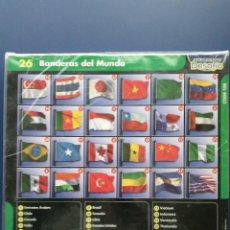 Coleccionismo: 26 BANDERAS DEL MUNDO PRECINTADO. Lote 25577563