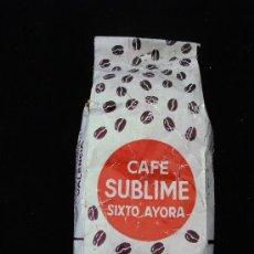 Coleccionismo: PAQUETE DE CAFE SUBLIME SIXTO AYORA 250G, COLOMBIA SUPERIOR, SIN ABRIR (CON SEÑALES DE EDAD). Lote 26507203