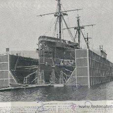 Coleccionismo: LAMINA FOTOGRAFICA.GRAN DIMENSION.68 X 28.AÑO 1895.DIQUE FLOTANTE.CARTAGENA.FILIPINAS.ILO-ILO.PANAY. Lote 27092375