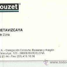 Coleccionismo: TARJETA COMERCIAL CROUZET, BARCELONA. Lote 27544568
